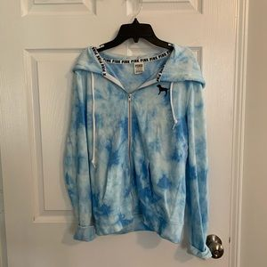 Blue PINK Hoodie Size Small